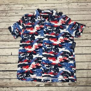 American Rag Men's abstract button down shirt